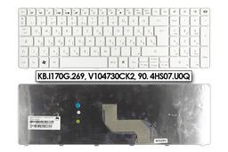 Packard Bell EasyNote TK85 - PEW91 fehér magyar laptop billentyűzet