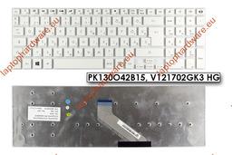 Packard Bell Easynote TS11, TS13, TS44 használt fehér magyar laptop billentyűzet, PK130O42B15