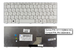 Packard Bell PAV 80 gyári új magyar fehér billentyűzet (V111102BK4 HG, PK130D41B15)