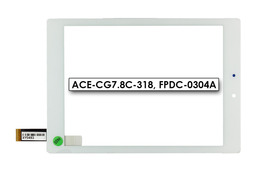 Érintő panel, touchscreen (fehér) Prestigio MultiPad 4 Diamond 7.85 tablethez (ACE-CG7.8C-318)