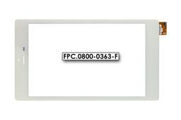 Érintő panel, touchscreen (fehér) Prestigio MultiPad Color 8.0 (PMT5887 3G verzió) tablethez (FPC.0800-0363-F)