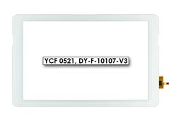 Érintő panel, touchscreen (fehér, 10.1) Quantum Q-Wave A100MS tablethez (DY-F-10107-V3)