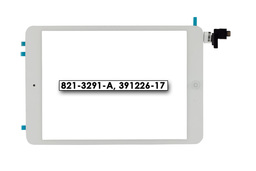 Érintő panel, touchscreen (fehér) Apple iPad Mini A1455, A1454, A1432 tablethez