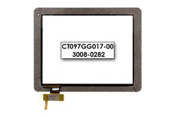 Érintő panel, touchscreen Prestigio MultiPad 9.7 ULTRA DUO  (PMP5597D) tablethez (CT097GG017-00)