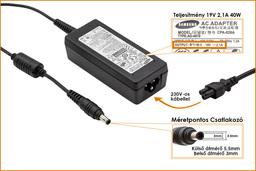 Samsung 19V 2.1A 40W (center pin) gyári új laptop töltő (AD-4019S)