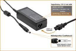 Samsung 19V 3.16A 60W (center pin) helyettesítő új laptop töltő (AD-6019S, AD-6019R, ADP-60ZH)