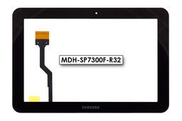 Érintő panel, touchscreen (fekete) Samsung Galaxy Tab 8.9 (GT-P7300, GT-P7310, GT-P7320) tablethez (MDH-SP7300F-R32)