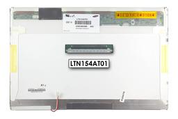 Samsung LTN154AT01 15,4 inch WXGA CCFL használt fényes B kategóriás laptop kijelző
