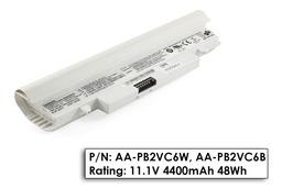 Samsung N148, N150, NP-N148, NP-150 használt 6 cellás fehér laptop akku/akkumulátor 75% (AA-PB2VC6W)