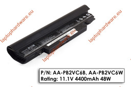 Samsung N148, N150, NP-N148, NP-150 használt 6 cellás fekete laptop akku/akkumulátor 90% (AA-PL2VC6B)