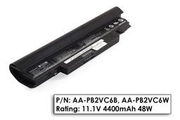 Samsung N148, N150, NP-N148, NP-150 használt 6 cellás fekete laptop akku/akkumulátor 75% (AA-PL2VC6B)