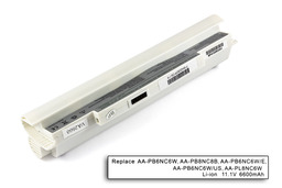 Samsung NC10, NC20, ND10 helyettesítő új fehér 9 cellás nagy kapacitású laptop akku/akkumulátor (AA-PB6NC6W)