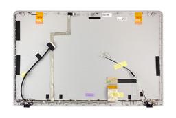 Samsung NP270E5E, NP275E5E, NP300E5E gyári új ezüst laptop kijelző hátlap LCD kábellel (BA75-04423A)