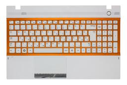 Samsung NP300V5A, NP305V5A gyári új fehér-narancssárga magyar laptop billentyűzet modul (BA75-03247Q)