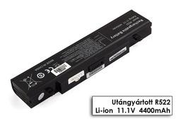 Samsung NP sorozat NP300E5A laptop akkumulátor, új, gyárival megegyező minőségű helyettesítő, 6 cellás (4400-5200mAh)