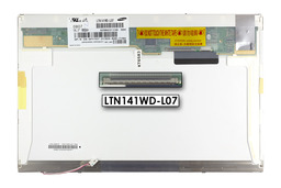 Samsung WXGA 1280x800 CCFL használt  fényes laptop kijelző, LTN141WD-L07