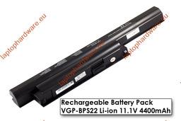 Sony Vaio E sorozat használt 6 cellás 70%-os fekete laptop akku/akkumulátor  VGP-BPS22