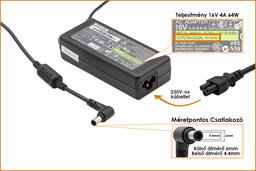 Sony Vaio, Fujitsu-Siemens LifeBook 16V 4A 65W gyári új laptop töltő (VGP-AC16V8, PCGA-AC16V7)