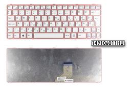 Sony Vaio SVE11 (WIN8) gyári új magyar laptop billentyűzet, pink kerettel (149106011HU)