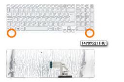 Sony Vaio SVE15, SVE17 gyári új fehér magyar laptop billentyűzet (1.8cm verzió, Win8) (149095211HU)