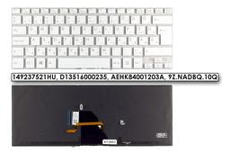 Sony VAIO SVF14 (WIN8) gyári új magyar háttér-világításos fehér laptop billentyűzet,149237521HU