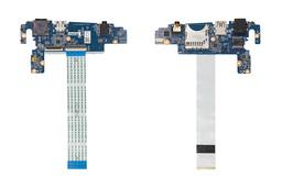 Sony Vaio SVF14N sorozatú laptophoz használt USB/Modem/Audio/SD kártyaolvasó és bekapcsoló panel (32FI2UB0000, DA0FI2TB6E0 Rev:E)