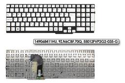 Sony Vaio SVS15 sorozatú laptopokhoz gyári új magyar ezüst  keret nélküli billentyűzet (149068411HU)