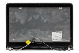 Sony Vaio SVT131A11M (SVT1312V1ES) laptophoz gyári új komplett kijelző burkolati egység LCD kábellel, zsanérokkal