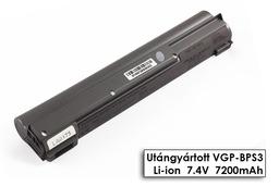 Sony Vaio T-140, T-160, T-170 helyettesítő új 6 cellás ezüst laptop akku/akkumulátor (VGP-BPS3)