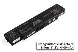 Sony Vaio VGN-AR, VGN-CR, VGN-NR, VGN-SZ helyettesítő új 6 cellás fekete laptop akku/akkumulátor (VGP-BPS9, VGP-BPS9/B)