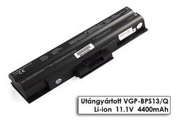 Sony Vaio VGN-AW230, VGN-CS190, VGN-TX56 helyettesítő új 6 cellás fekete laptop akku/akkumulátor (VGP-BPS13, VGP-BPS21)