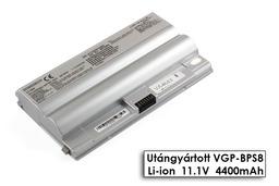 Sony Vaio VGN-LB15, VGN-FZ11, VGN-FZ140E helyettesítő új 6 cellás ezüst laptop akku/akkumulátor (VGP-BPS8)