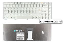 Sony Vaio VGN-NR, VGN-NS, PCG-7111 sorozatú laptopokhoz gyári új fehér US angol billentyűzet (53010BM08-203-G)