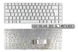 Sony Vaio VGN-NW11, VGN-NW12, VGN-NW25 gyári új fehér magyar laptop billentyűzet, keret nélkül, 53010DJ45-203-G