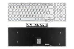 Sony Vaio VPC-EB gyári új UK angol fehér laptop billentyűzet, 148793211