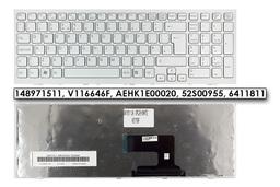 Sony PCG sorozat PCG-71811M fehér UK angol laptop billentyűzet