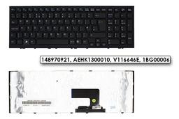 Sony Vaio VPC-EH gyári új fekete UK angol laptop billentyűzet (148970921, AEHK1300010)