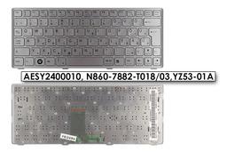SONY VAIO VPC-W21M1E, PCG-21212M használt ezüst magyar laptop billentyűzet (AESY2400010)