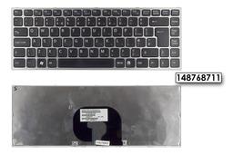 Sony Vaio VPC-Y, VPC- Y11, VPC-Y21 gyári új ezüst keretes fekete UK angol billentyűzet, 148768711