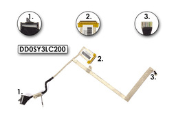 Sony Vaio VPCW21M1E, PCG-21212M használt laptop LCD kábel, DD0SY3LC200