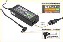 Sony VGP-AC19V32 19.5V 4.7A 90W gyári új laptop töltő (PCGA-AC19V10, PCGA-AC19V11)