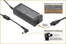 Sony VGP-AC19V32 19.5V 4.7A 90W helyettesítő új laptop töltő (PCGA-AC19V10, PCGA-AC19V11)
