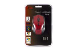 Star-Technology vezeték nélküli USB piros optikai egér (ST-253R)