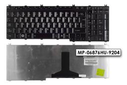 Toshiba L350, L500, P300, X200 gyári új magyar fényes fekete laptop billentyűzet (A000039400)
