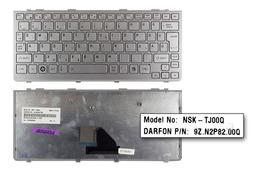 Toshiba Mini NB200, NB200-10Z, NB205 használt magyar ezüst laptop billentyűzet (NSK-TJ00Q)