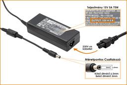 Toshiba PA2301U-1ACA 15V 5A 75W gyári új laptop töltő (ADP-60RHA, PA-1750-07)