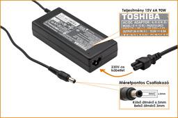 Toshiba Satellite P100 sorozat 15V 6A 90W-os laptop töltő