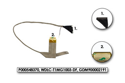 Toshiba Qosmio F750 gyári új laptop LCD kábel (P000548370, WDLC-T1MG1003-DF, GDM900002191)