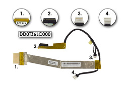 Toshiba Qosmio X500 gyári új laptop LCD kábel (DD0TZ6LC000, A000055180)