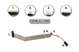 Toshiba Satelite A300, A300D, A305, A305D gyári új laptop LCD kábel (kamera csatlakozóval) (DD0BL5LC000)